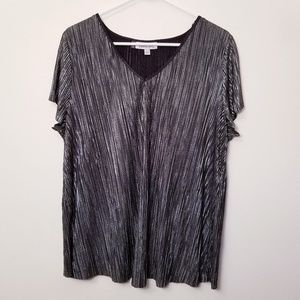 Jennifer Lopex XL Black/Silver Blouse Top